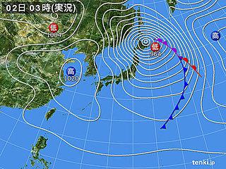 2日 北海道は数年に一度の猛ふぶきも