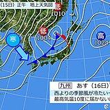 あす(16日) 寒の内らしい寒さ 九州