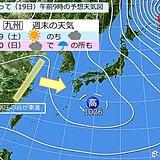 週末、センター試験の天気は? 九州