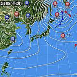17日 北は冬の嵐 関東は春先の陽気