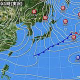 21日 北は冬の嵐 東・西は乾燥注意