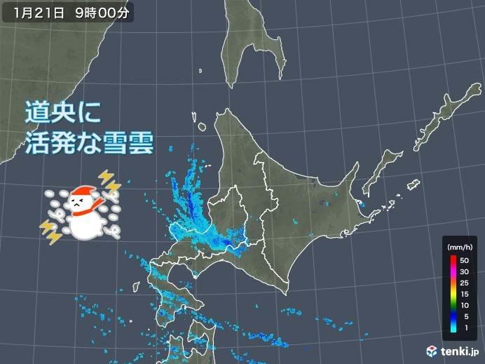 北海道 道央で局地的な大雪に