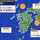 きょう(23日)は3月並みの暖かさ 九州