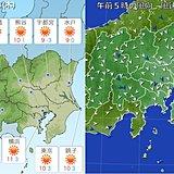 24日の関東 冷たい北風 強まる