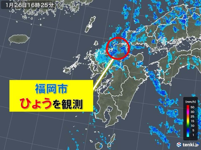 福岡で直径8ミリのひょうを観測