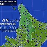 北海道 10年ぶりの弱い冷え込み?