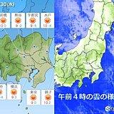 関東 30日青空に白い雲…空気乾燥に注意