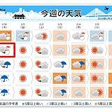 週間 春間近 木曜の夜「東京都心で雪」