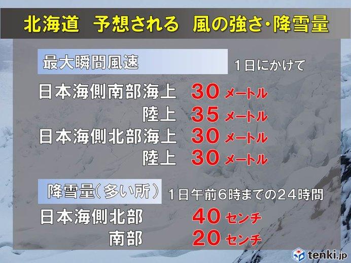 きょうの天気(北日本) 日本海側では猛ふぶきも