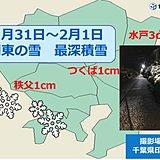 関東の雪 どれくらい積もった?