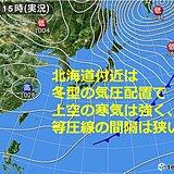 北海道 週末の天気。今夜は吹雪に注意
