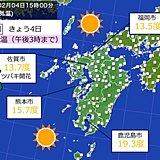 立春 暦通りの暖かさ 九州