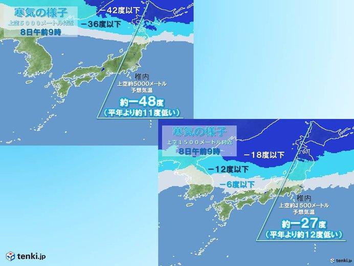 北海道には強烈寒気