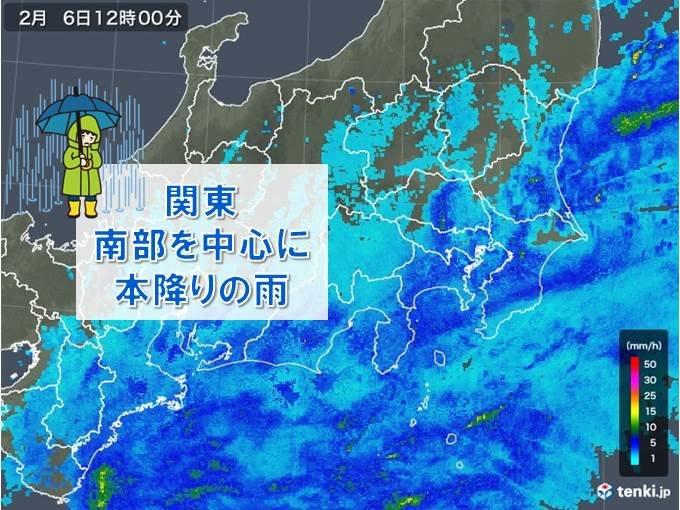 関東は本降りの雨 都心の正午の気温5度台