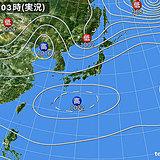 9日 広い範囲で不安定 雷雨も