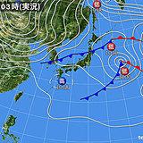 7日 春の陽気も傘がお守り 北は強烈寒気