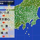 関東 正午の気温 前日より10度超も