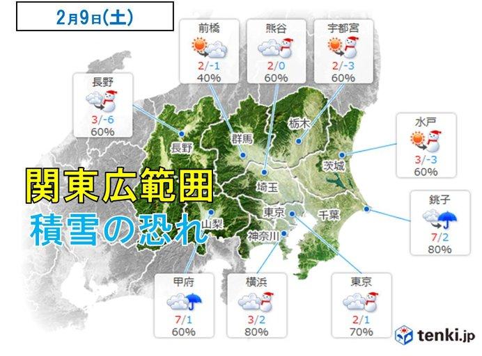 日本気象協会18時発表 9日の天気予報