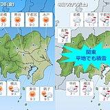 関東 極寒へ 9日都心で雪の可能性高まる
