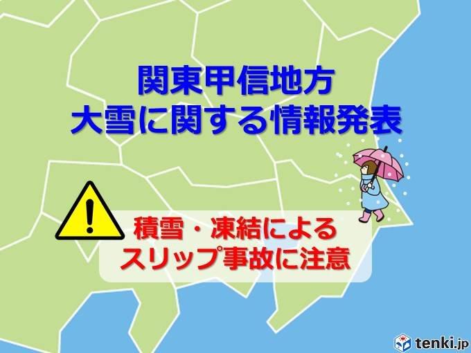 大雪情報 東京23区で降雪5~10cm