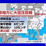 連休直撃 極寒の東京 23区も積雪・大雪