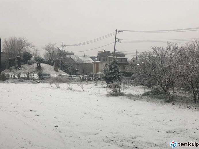 関東 南部に再び雪雲かかる_画像