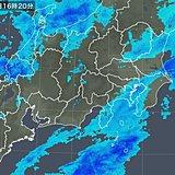 関東 南部に再び雪雲かかる