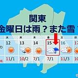 関東 金曜は雨?それともまた雪?