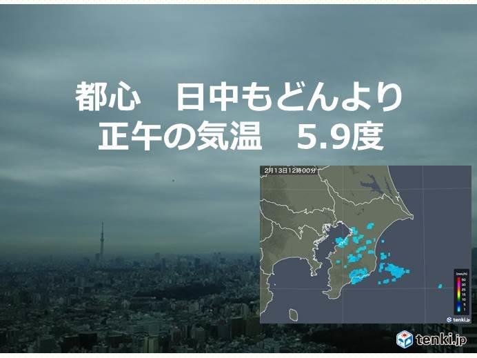千葉県で雪チラチラ 都心は正午に5度台