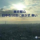 東京都心 きょうも寒い一日