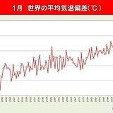 1月の世界平均気温 過去2位タイに