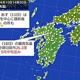 九州 きょう(10日)はぽかぽか陽気