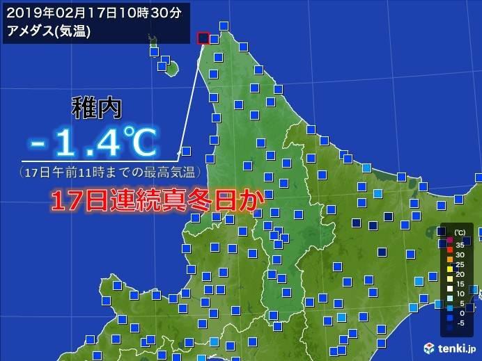 北海道 8地点でまだプラスなし
