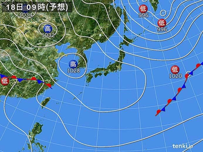九州から北海道 高気圧に覆われる
