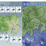 19日 関東 帰宅時は本降りの雨で強風も
