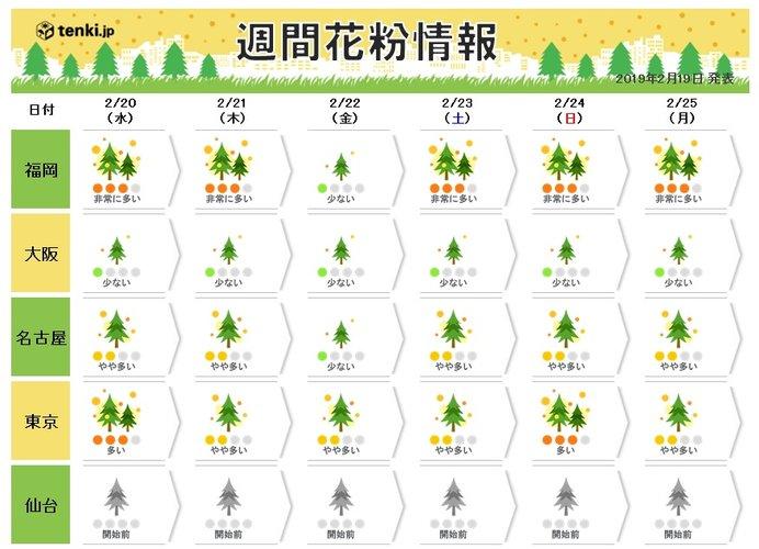 この先、気温と天気の特徴 花粉の飛散は?