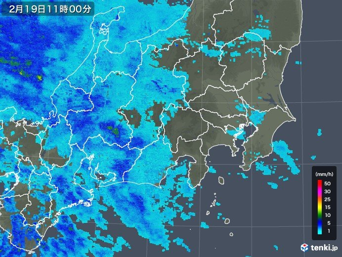 関東 早くも雨雲かかり始める