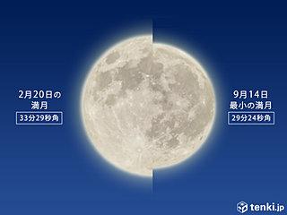 今夜の月は スーパームーン