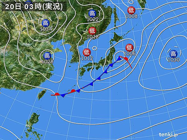 20日 日本海側は曇りや雨 関東は春本番