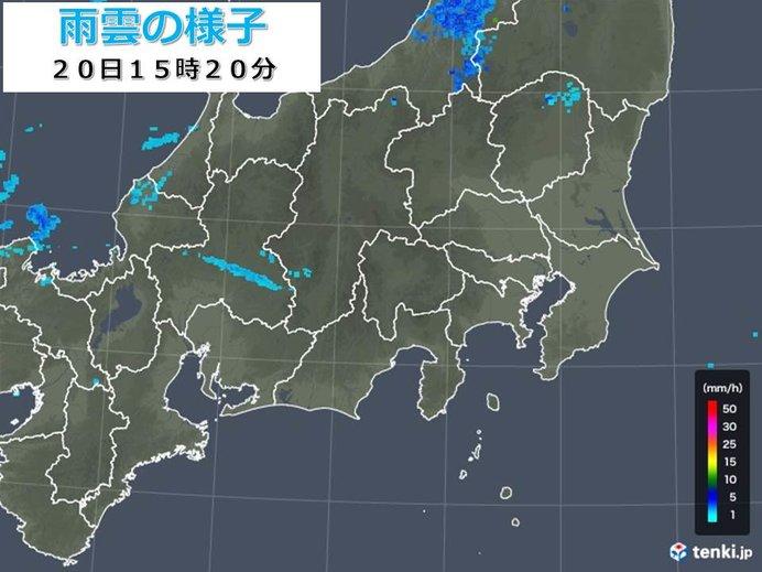雨が降り出した関東 急な強い雨注意