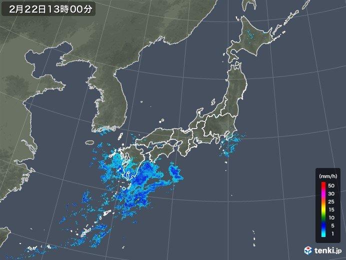 雨雲ゆっくり東進中 関東にも