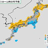 25日(月) 太平洋側に雨雲かかる