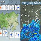 25日 関東 南部は雨で都心はヒンヤリ