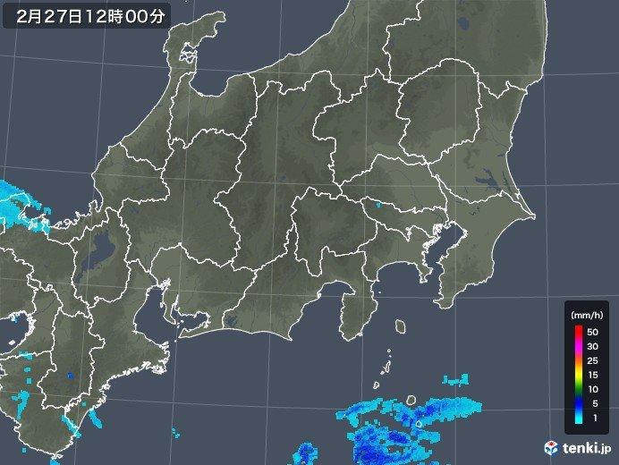南には雨雲