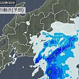 早朝の通勤と帰宅時 雨強まる 木曜の関東