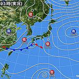 28日 冷たい雨 降る時間帯と降り方
