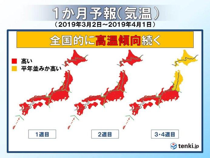 3月も高温傾向 桜の開花や花見に影響も?