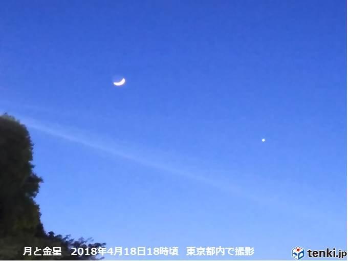 2日連続の天体ショー 月と土星、金星接近_画像