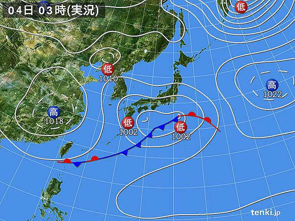 4日 雨降り続く 東京は真冬の寒さ