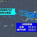 名瀬と瀬戸内町 4月として記録的雨